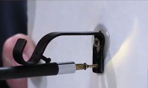 How To Hang Curtain Rods In Drywall